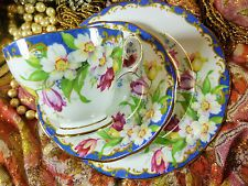 AYNSLEY ~ Narcissus (Blue) China Tea Sets, Blue Band, Cup And Saucer, Tea Time, Tea Pots, Teacups, Plates, Tableware, Floral