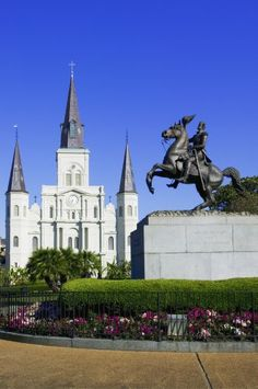New Orleans, Louisiana - St. Louis Cathedral -- It has been raised to Basilica status in the Catholic Church. There have been three churches actually built on this site. The first one was in 1718. This church is the oldest continuously run church in the United States.