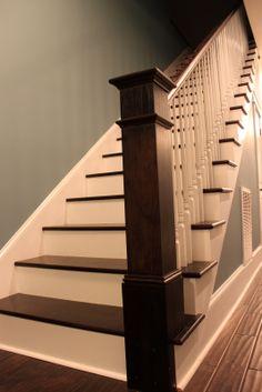 dark railing post