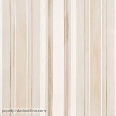 papel pintado infantil babies 10146 con rayas verticales en diferentes grosores y tonos de marrn