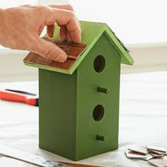 4. Clad a Birdhouse Roof | 10 Uses for Vinyl Tiles | Photos | Money Saving Ideas | This Old House
