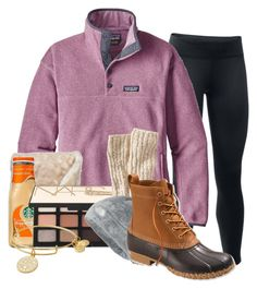 """Big snow storm today❄️"" by sophiavarrrr ❤ liked on Polyvore featuring Under Armour, Patagonia, NARS Cosmetics, Alex and Ani, L.L.Bean and The North Face"