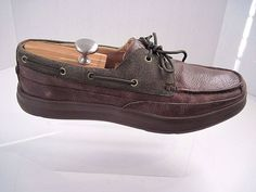 Cole Haan men's  TRUMAN 2EYE.II 12833 Leather Boat shoes Chestnut Size 12 M #ColeHaan #BoatShoes