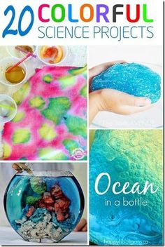 20 Colorful Science Projects - so many fun kids activities to wow your kids and help them to learn at the same time (science, science experiments, homeschool, preschool, kindergarten, 1st grade, 2nd grade, 3rd grade, 4th grade)