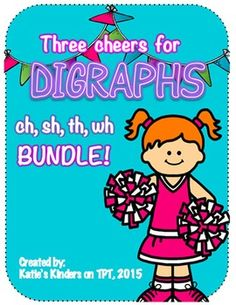 If you are teaching digraphs (ch, th, sh, wh) then this comprehensive bundle is for you!I've created it to use in my own classroom and I hope you find it useful too!CLICK ON THE PREVIEW BUTTON FOR A SAMPLE!This packet is 67 pages and here is what you get:-Digraph word cards with pictures for teacher demo (in color)-I Spy activity pages-Begins with/ends with sounds sorts-Digraph sorts (cut and paste) with words and pictures-Mixed review practice pages-Spin a sound graphing game-Emergent…
