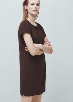 Beaded collar dress - Dresses for Women | MANGO USA