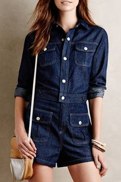 bcc95b98af 17 Best denim playsuit images