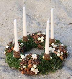 Advent wreath itself twine twine tie thread jute straw ornament Tang star - Weihnachten - Christmas Advent Wreath, Christmas Candles, Holiday Wreaths, Christmas Crafts, Advent Wreaths, Reindeer Christmas, Natural Christmas, Winter Christmas, Christmas Time