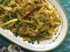 This spiced up cabbage sabzi makes a healthy, flavoursome side dish for rotis and chapatis. It is also goes well with dal and rice. Easy Cabbage Recipes, Cabbage Rolls Recipe, Veg Recipes, Curry Recipes, Indian Food Recipes, Vegetarian Recipes, Cooking Recipes, Healthy Recipes, Ethnic Recipes