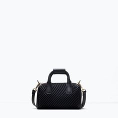 ZARA - SHOES & BAGS - QUILTED MINI BOWLING BAG