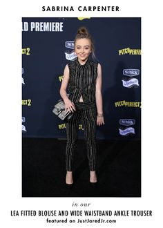 Little miss Sabrina Carpenter in a&o for the Pitch Perfect 2 premier! xo