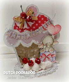 Jenine's Card Ideas: Cupcake Let's Party