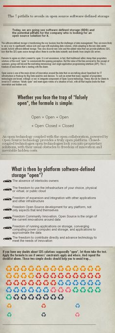 7 pitfalls to avoid in open source software-defined storage