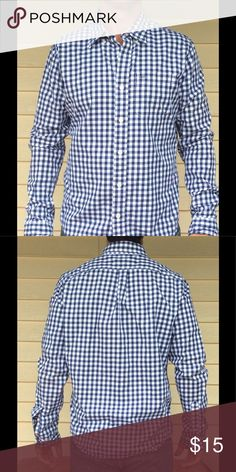 Abercrombie & Fitch Gingham Oxford Shirt NWOT Tried on in the store sat in the closet. This beautiful Abercrombie & Fitch blue gingham Oxford is looking for a new home. Are you the one who will dress pair it with jeans or chinos for a great look? Comes from a pet and smoke free home . Make me an offer, bundle with other items for a private offer. Abercrombie & Fitch Shirts Casual Button Down Shirts