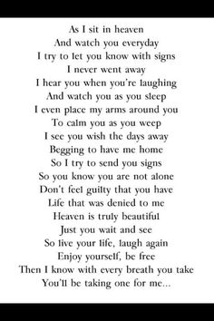 Lovely poem for the deceased