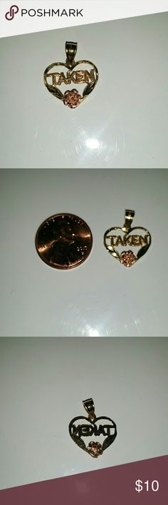 Taken necklace pendant 14k Gold, pink rose detail, smaller and thinner than a penny. Excellent condition, worn once to try on. Chain not included. piercing pagoda Jewelry