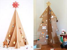 5 formas creativas de hacer un árbol de Navidad con cartón Carnival Crafts, Ideas Geniales, Diy, Holiday Decor, Christmas, Ideas Fáciles, Frozen, Hair Cuts, Home Decor
