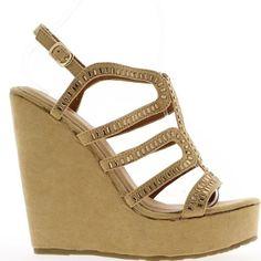 Sandalen-Camel kompensiert Frauen in Heels von 14cm bis 4cm Fach. Sturz von 10cm. Aspekt Wildleder mit fein verzierten Flansche Straßsteinen. Eine goldene auf die Knöchel-Clamp-Schleife können Sie sie nach Ihren Wünschen anzupassen. Synthetische Materialien außer Stoffverdeck. Boardgröße: nehmen Sie Ihre übliche Größe Keil Sandalen.