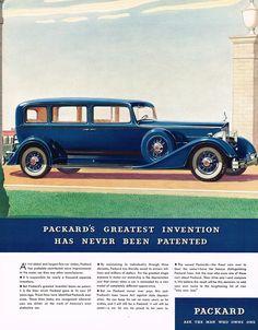 1934 BIG Vintage Packard Limousine ? Car Automobile Art Print Ad