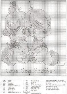 I'll always love precious moments :) cross stitch