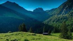 1920x1080 Wallpaper mountains, grass, nature, landscape