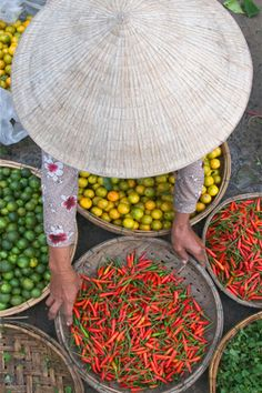 Market in Hoi An, Vietnam. Extremely fresh fruit and veggies, something available almost all the time in #Vietnam