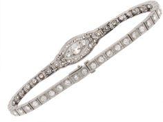 Art Deco Diamond Bracelet in Platinum from Beladora.com
