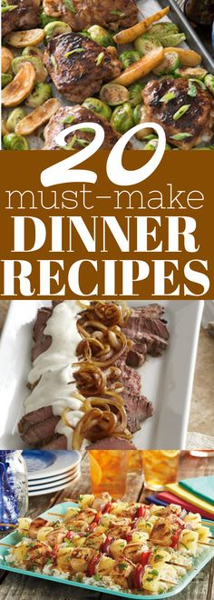 Delicious dinner recipe ideas, like cola jerk chicken, peppercorn steak, pineapple chicken kabobs and lots more recipes!