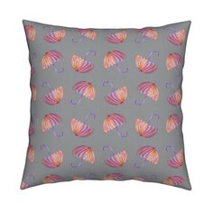 Catalan Throw Pillow featuring UMBRELLAS gray by paysmage | Roostery Home Decor