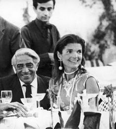 Jackie Kennedy Onassis at her 40th Birthday Celebration with Aristotle Onassis, 1969