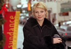 "Actress Gwyneth Paltrow poses during the 1998 Sundance Film Festival. Her film ""Sliding Doors,"" about a woman's romantic predicaments, was shown during the opening night at the Sundance Film Festival in Park City, Utah on Jan. 17, 1998."