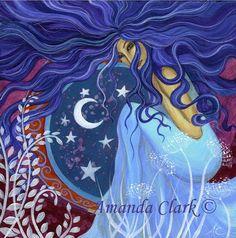 Godin Astarta art print van Amanda Clark