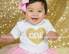 Cumpleaños Ropa bebé niña cumpleaños rosa luz por belleNwhistle