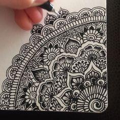 Doodling is so relaxing and rewarding✍ #myart #art #pattern #drawing #artwork…