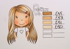 The Paper Nest Dolls: Copic Hair Color 1