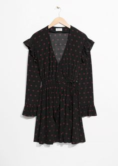 & Other Stories | Frill Wrap Dress in Red Dots