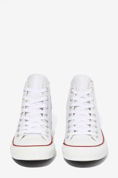 Converse All Star High-Top Sneaker - White Leather//