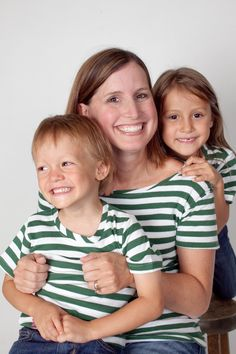 St. Patrick's Day stripes!  Green and white stripedshirts. www.stripedshirt.com $24.50