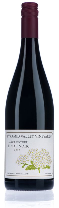 Pyramid Valley Vineyards Angel Flower Pinot Noir, Canterbury, New Zealand in Val's glass on Episode 84