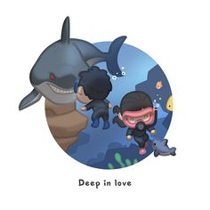 Oh I.. yeah... definitely. I hate sharks & can't swim at all, but this is totally true & quite cute because the words are right on :) <3