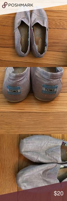 Purple Toms Size 9.5 Great condition ! Hardly worn Toms with Light Purple canvas with a little shimmer to them. So cute for summer! TOMS Shoes Flats & Loafers