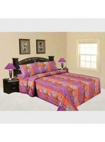 Jaipuri Sanagari Print Double Bed Sheet