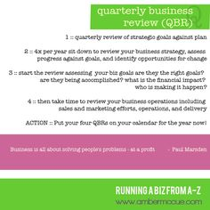 Quarterly Business Review Template  Qbr    Business