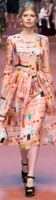 Midi! Un largo en boga--Dolce & Gabbana Fall 2015   The House of Beccaria~