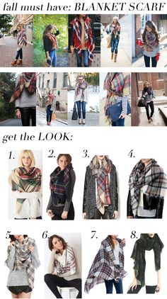 Fall must have: BLANKET SCARF!