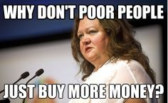 Gina on poor people