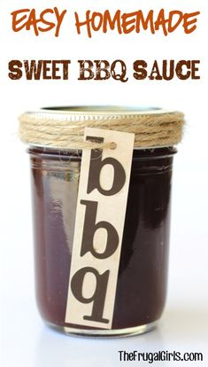 Jazz up your Chicken, Burgers and Ribs with this Homemade BBQ Sauce! Making your own Barbecue Sauce simple with this Easy Homemade Sweet BBQ Sauce Recipe!