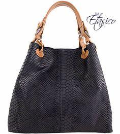 Turquoise Etasico Italian Leather Bags Iris Snakeskin Print Purses ...