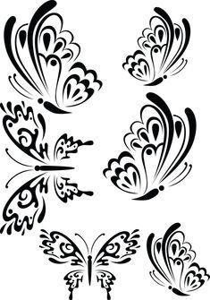 Stencil Patterns, Stencil Art, Stencil Designs, Embroidery Patterns, Stencils, Butterfly Drawing, Butterfly Tattoo Designs, Butterfly Stencil, Wood Burning Patterns