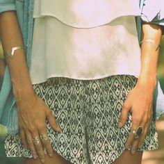 Pulseira losango + Conjunto de anéis encaixe + Anel com chapa de Agata = ❤️ #vanessaclarkjoias